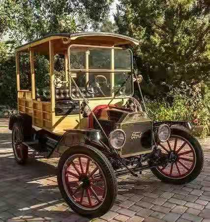 """老爷车 古董车 影视剧用车 摄影 1918年福特""""T""""型木制小客车636 作者:F2大森古典车"""